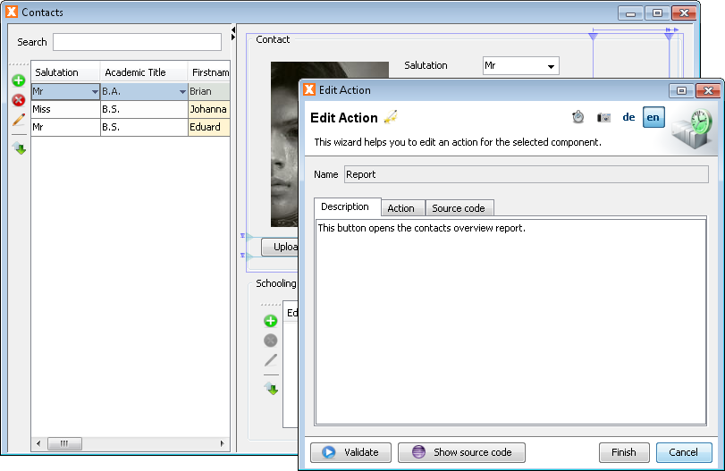 Edit Actions - Step 3