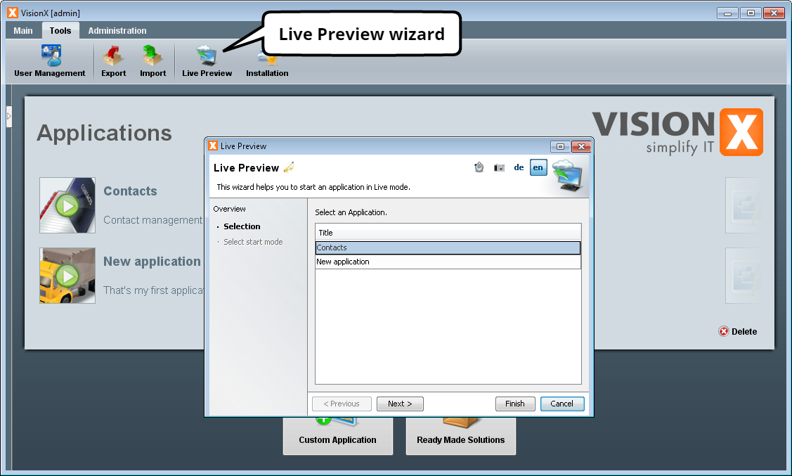 visionx:documentation:live-preview-select-application.png