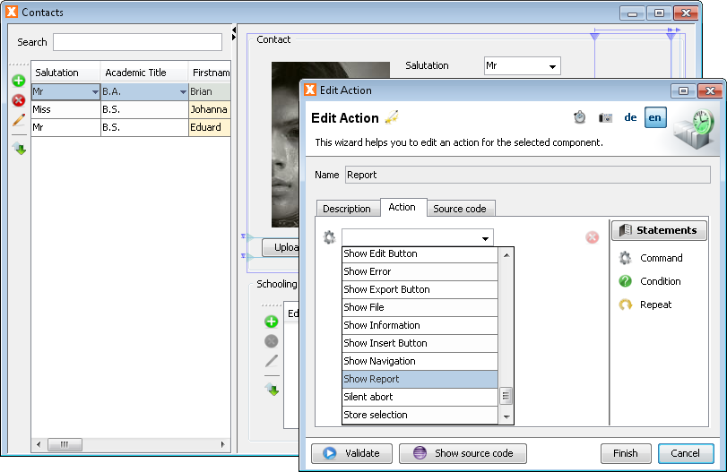 Edit Actions - Step 5