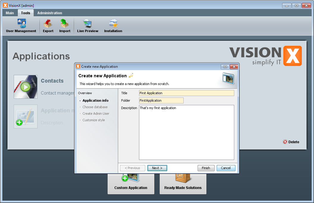 visionx:first_application:new-application-wizard.png