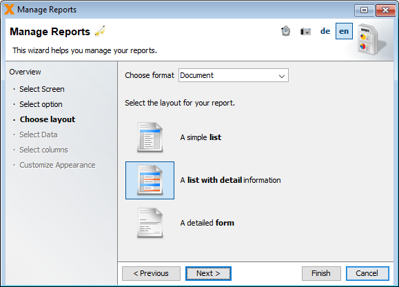 Create report step three